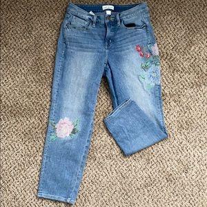 Sz 12 laneBryant embroidered hi rise straight jean